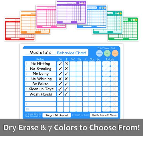 Dry-Erase Behavior Chart