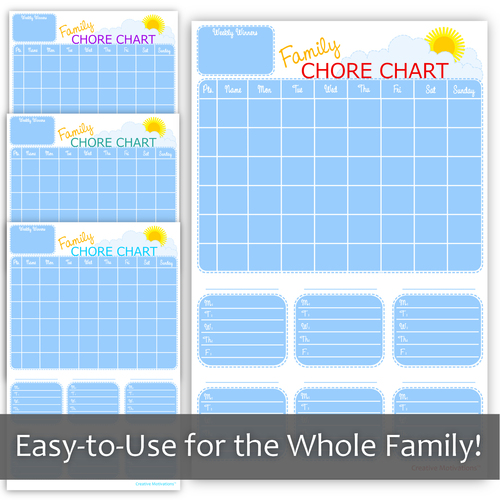 Family Chore Chart - Dry-Erase