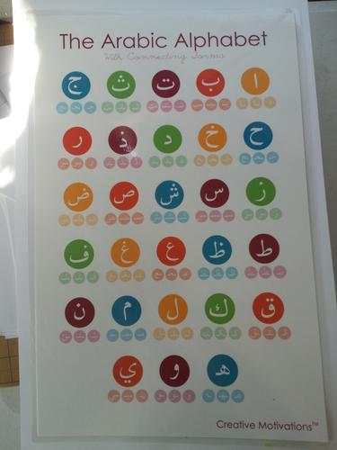 "Arabic Alphabet Poster - 11x17"""