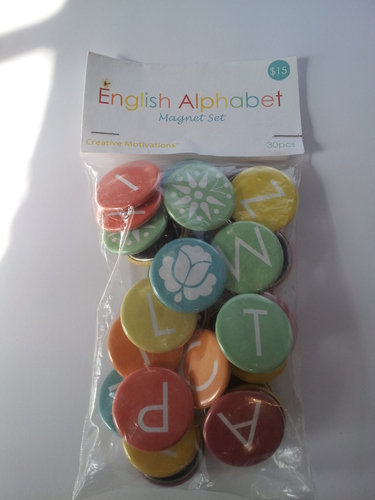English Alphabet Magnets