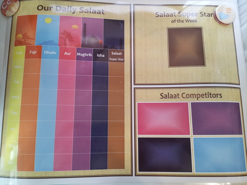 """Family Salaat Tracker System - 18x24"""""""