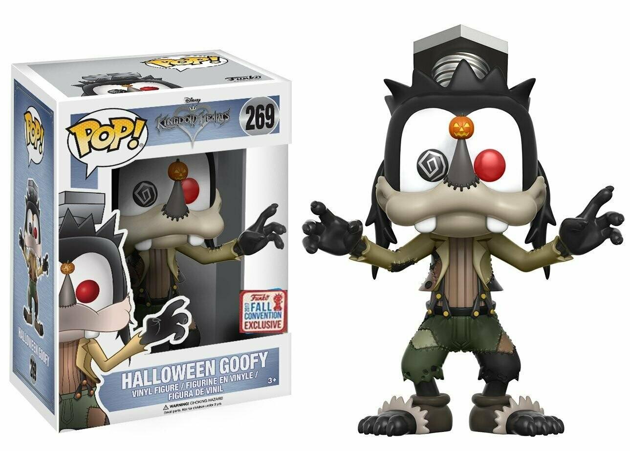 Funko Pop! NYCC Disney Kingdom Hearts Halloween Goofy, Limited Edition Fall Convention Exclusive, Concierge Collectors Bundle