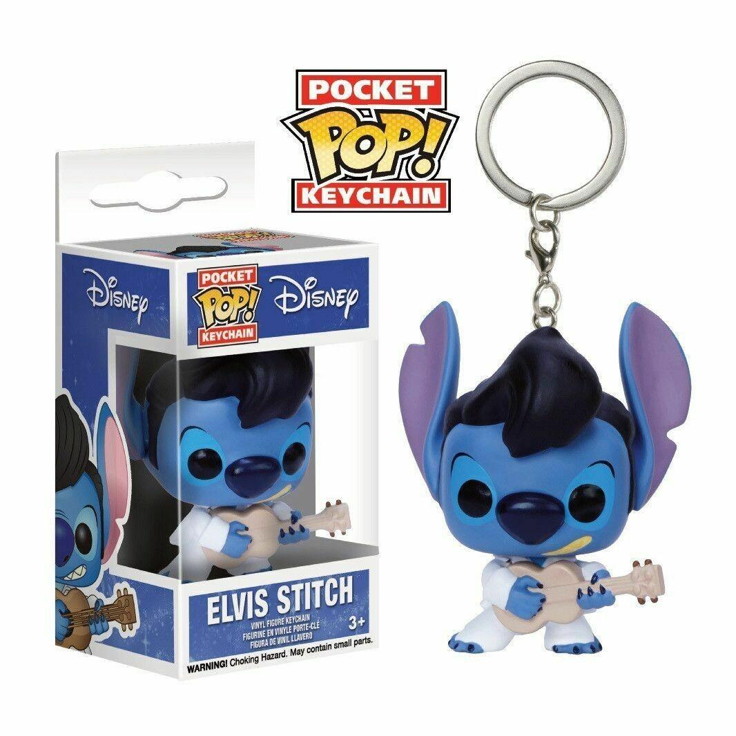 Funko Disney Lilo & Stitch Pocket Pop! Elvis Stitch Key Chain Hot Topic Exclusive