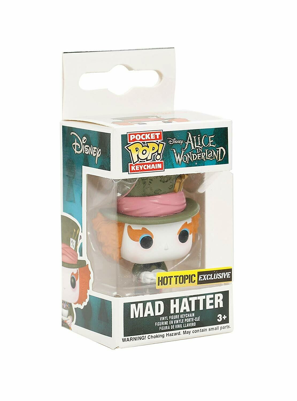 Pocket POP! Keychain Mad Hatter Hot Topic Exclusive Disney Alice In Wonderland