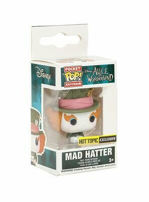 Pocket POP! Keychain Mad Hatter Hot Topic Exclusive Disney Alice In Wonderland