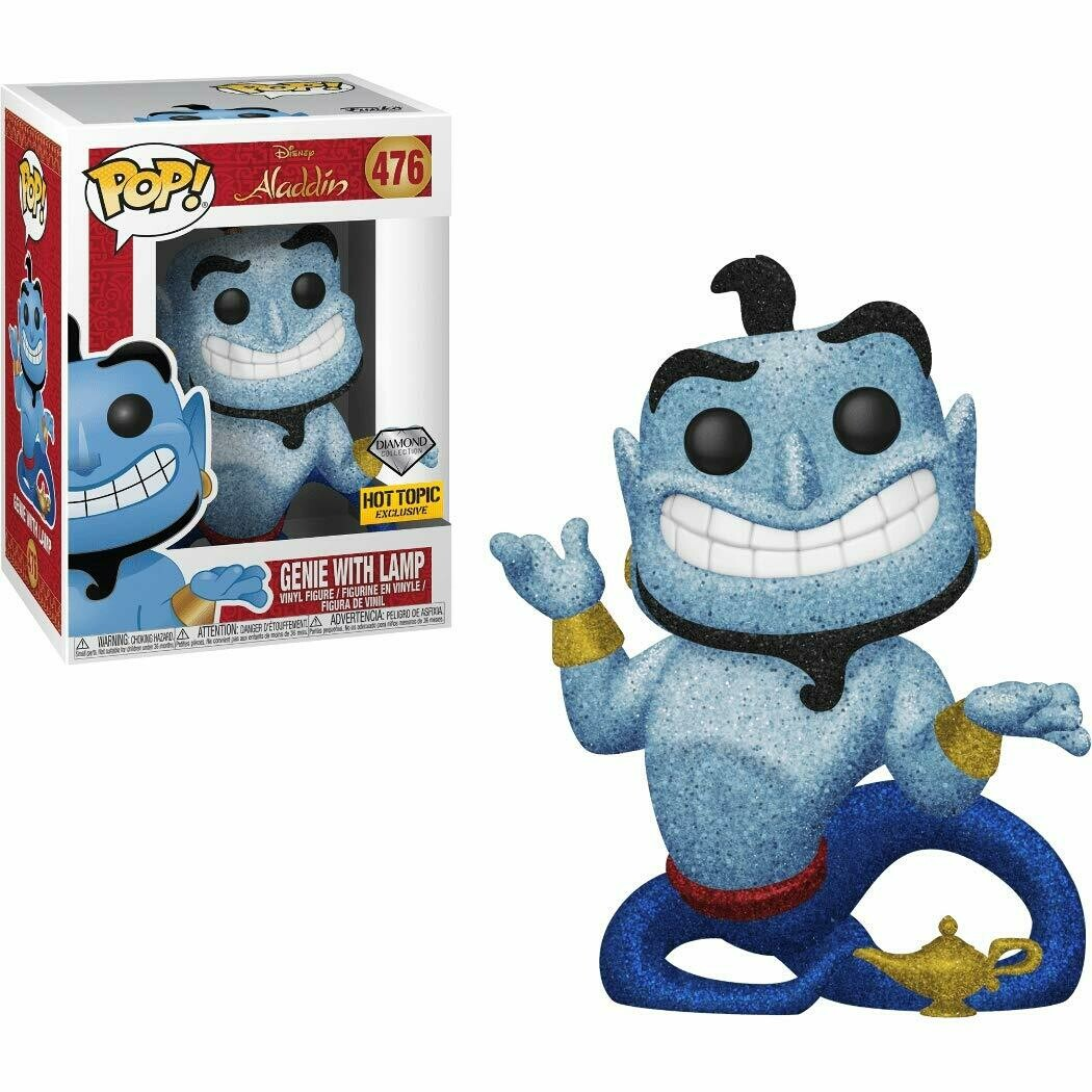 Funko Genie with Lamp (Hot Topic Diamond Exc) Pop Vinyl Figure & 1 Compatible Graphic Protector Bundle (38063 - B)