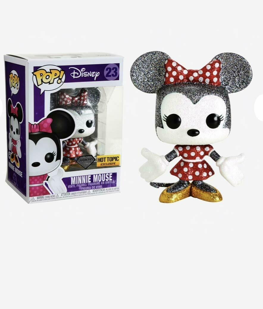 Funko Pop Disney Minnie Mouse #23 Diamond Collection Exclusive