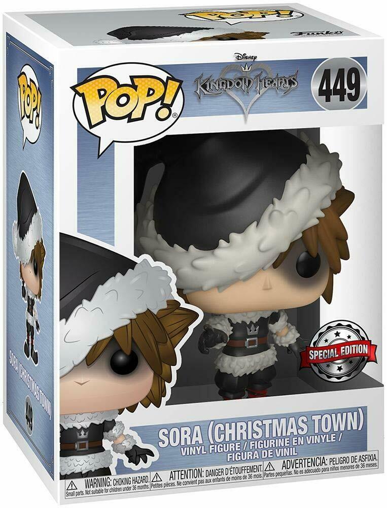 Funko Pop! Kingdom Hearts Christmas Town Sora Exclusive Vinyl Figure