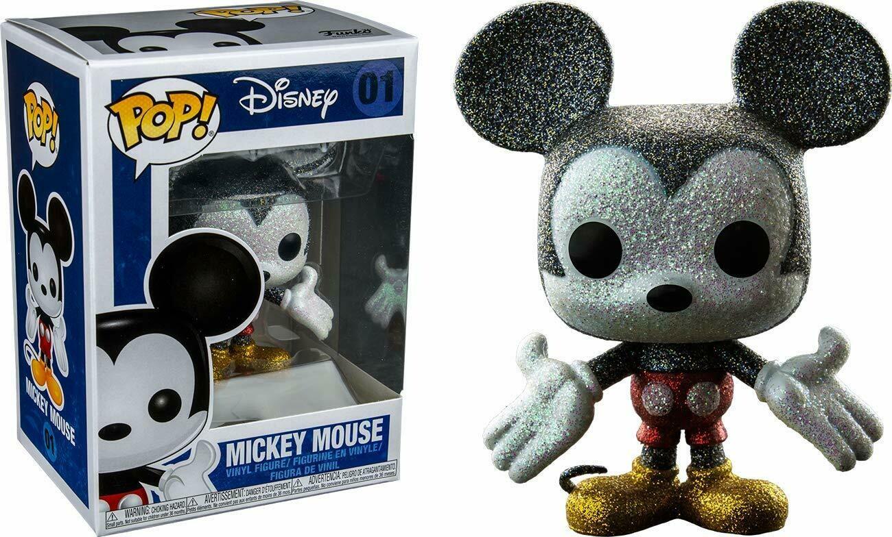 Funko Pop Disney: Glitter Mickey Mouse Collectible Figure, Multicolor