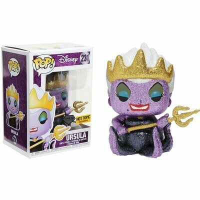 Funko Ursula (Hot Topic Diamond Collection Exclusive) POP! Disney x The Little Mermaid Vinyl Figure + 1 Classic Disney Trading Card Bundle (21922)