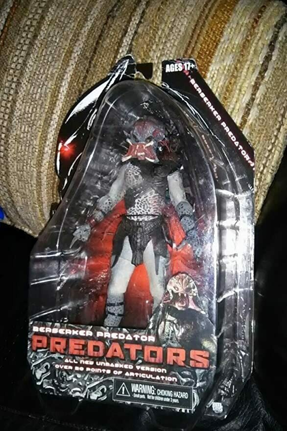 NECA Predators 2010 Movie Series 2 Action Figure Beserker Predator Unmasked