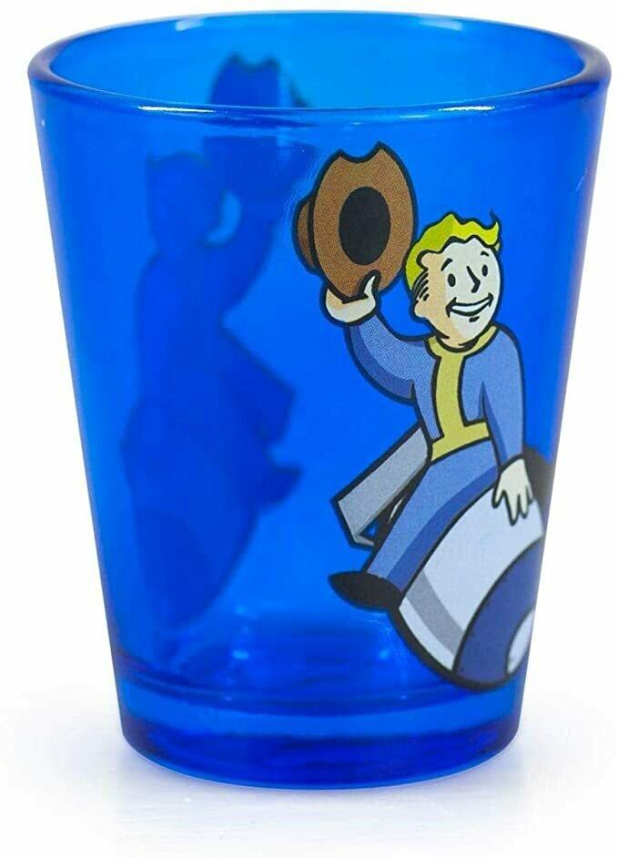 Fallout Vault Blue Pip Boy Shot Glass!!