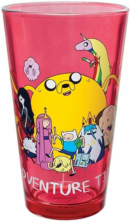 Animewild Adventure Time Group Shot Pint Glass