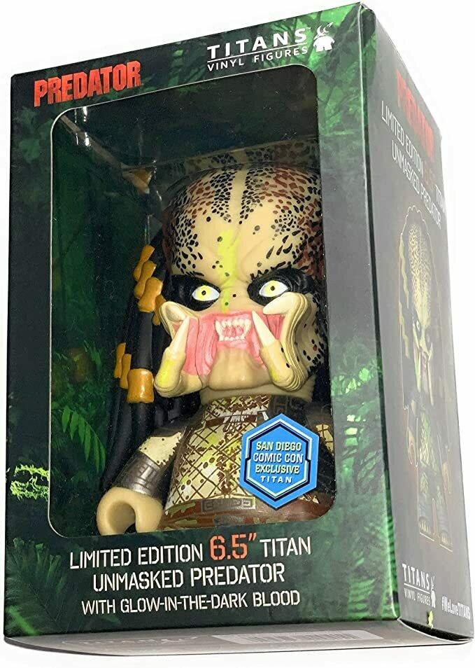 "Titans Vinyl Limited Edition 6.5"" Unmasked Predator Glow in The Dark SDCC"
