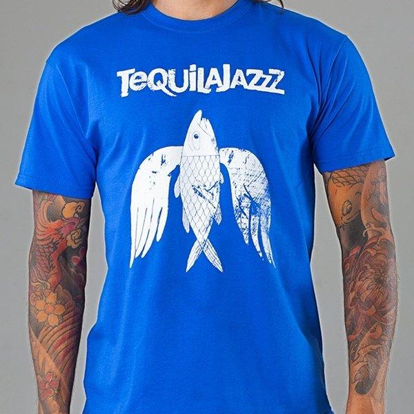 "TEQUILAJAZZZ - футболка мужская ""Птица"" (синяя)"