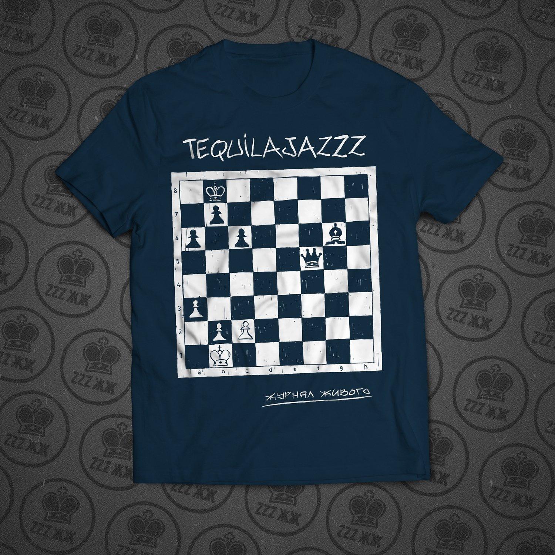 "TEQUILAJAZZZ - футболка мужская ""Журнал Живого"" (темно синяя)"