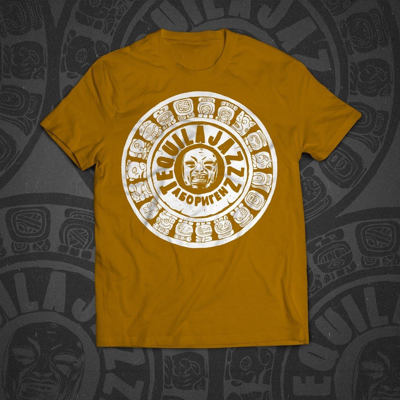 """TEQUILAJAZZZ - футболка мужская """"Абориген"""" (оранж)"""