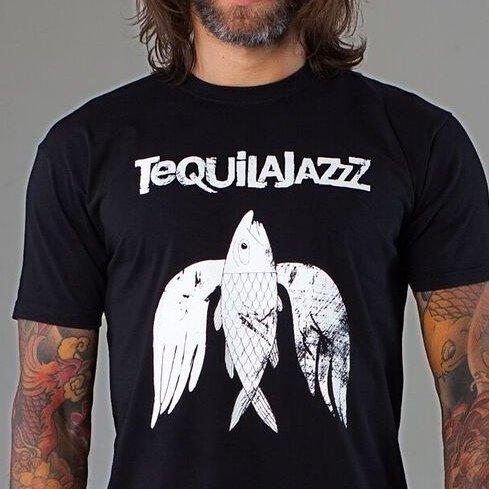 "TEQUILAJAZZZ - футболка мужская ""птица"" (черная)"