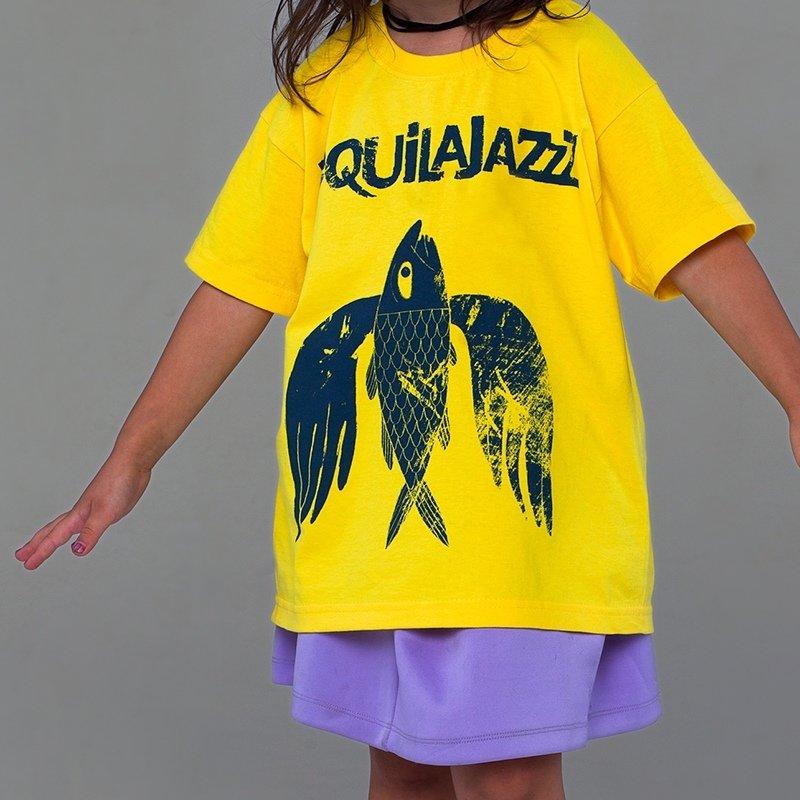 """TEQUILAJAZZZ - футболка детская """"Птица"""" (желтая)"""