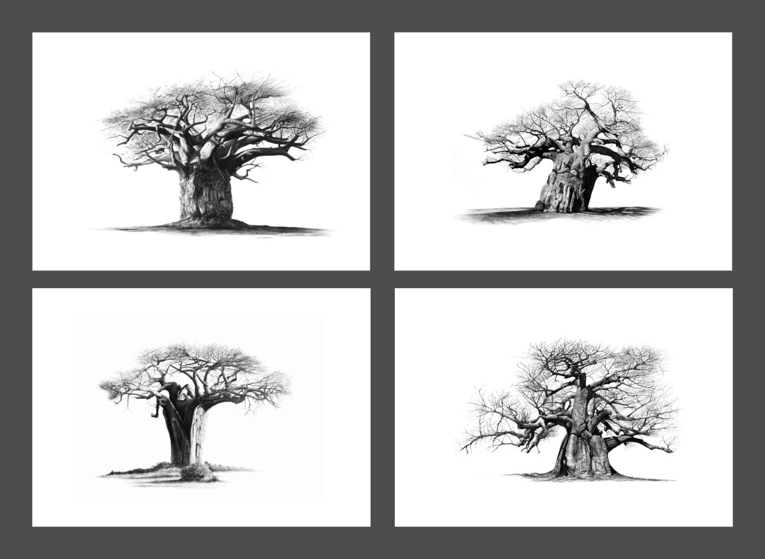"""""""The Four Sentinels"""" set of 4 x A5 prints on paper"""