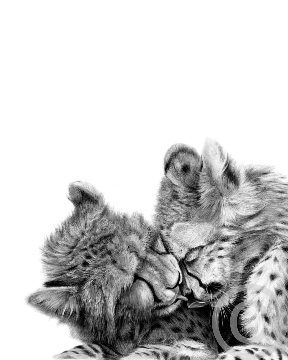 """Lean on Me"" 425mm x 595mm original size print on paper"