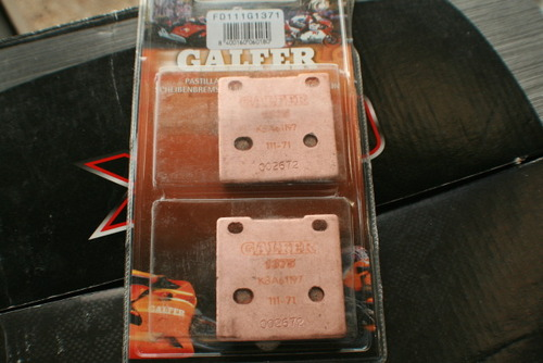 Galfer SV650 HH Sintered Rear Brake Pads