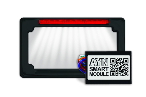 Black AYN License Plate Frame & Smart Module Combo from Signal Dynamics