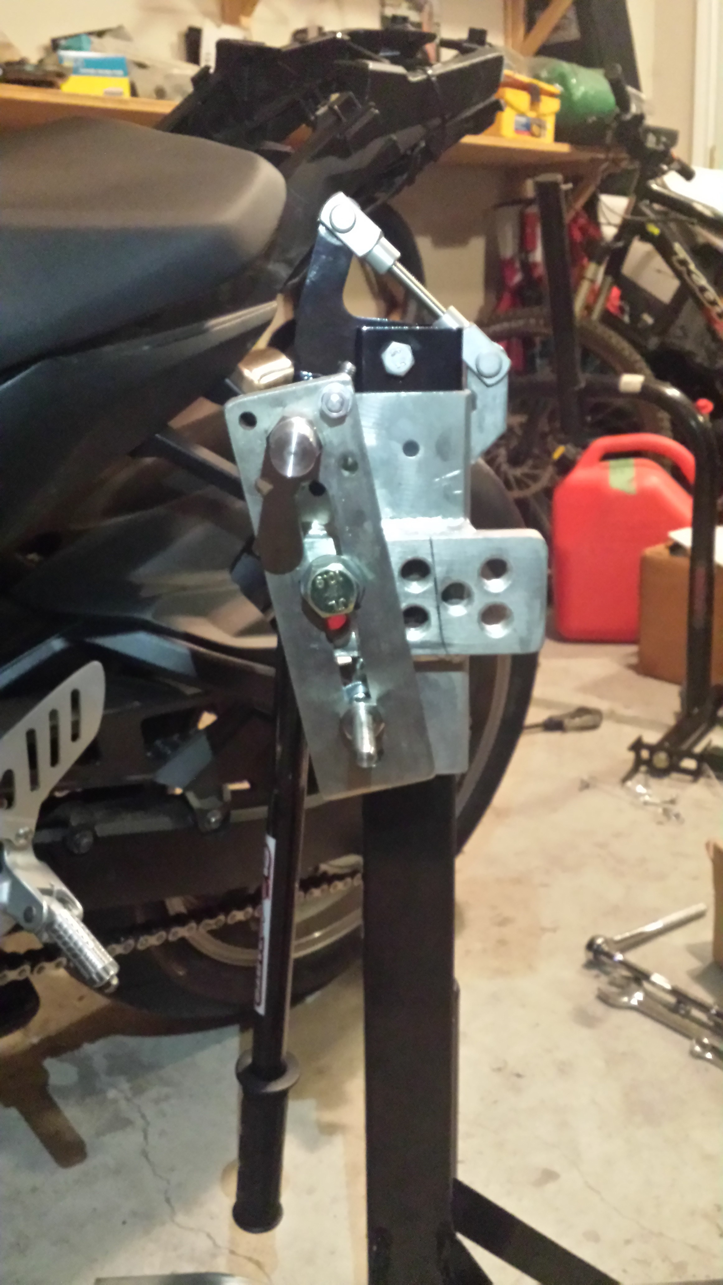 Black Custom Paddock Style Side Lift Stand 2011 - 2017, GSXR 600/750