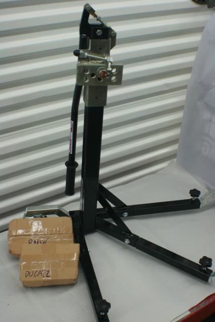 Black Custom Paddock Side Lift Stands 2015 - 2019 BMW S1000RR - HP4 Models