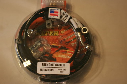 Galfer 2012 and Newer DL650abs Black SS Full Front Brake Line Kits - Standard Length