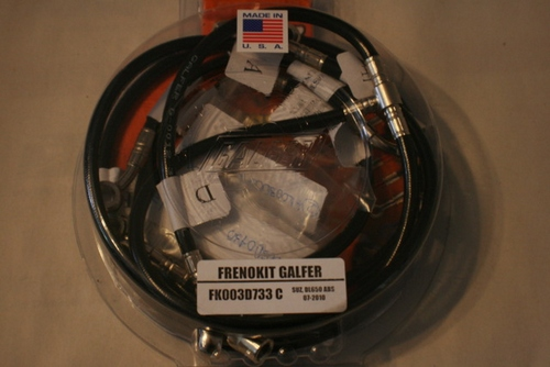 Galfer 2012 DL650 abs Front and Rear SS Brake Line Kit 00338