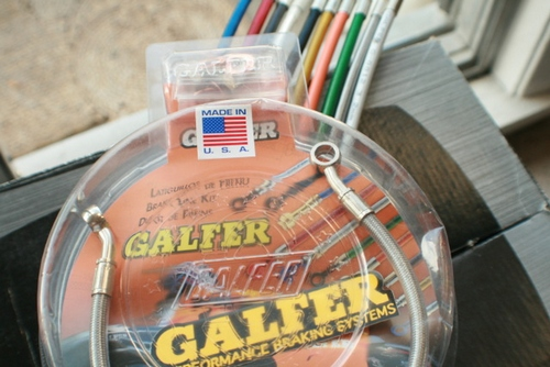 Galfer Silver Stainless Steel Rear Brake Line Kits