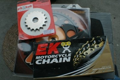 DL650 525 Chain and Sprocket Combination