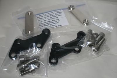 SV650 All Model Years 4 Piston Tokico Brake Caliper Adapter Brackets