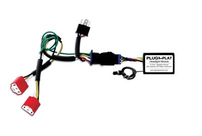 Plug & Play™ Headlight Module with Dual H4 Harness for Vstrom's Combo from Signal Dynamics