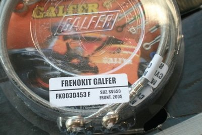 Galfer Black SS SFV Gladius Rear Brake Lines