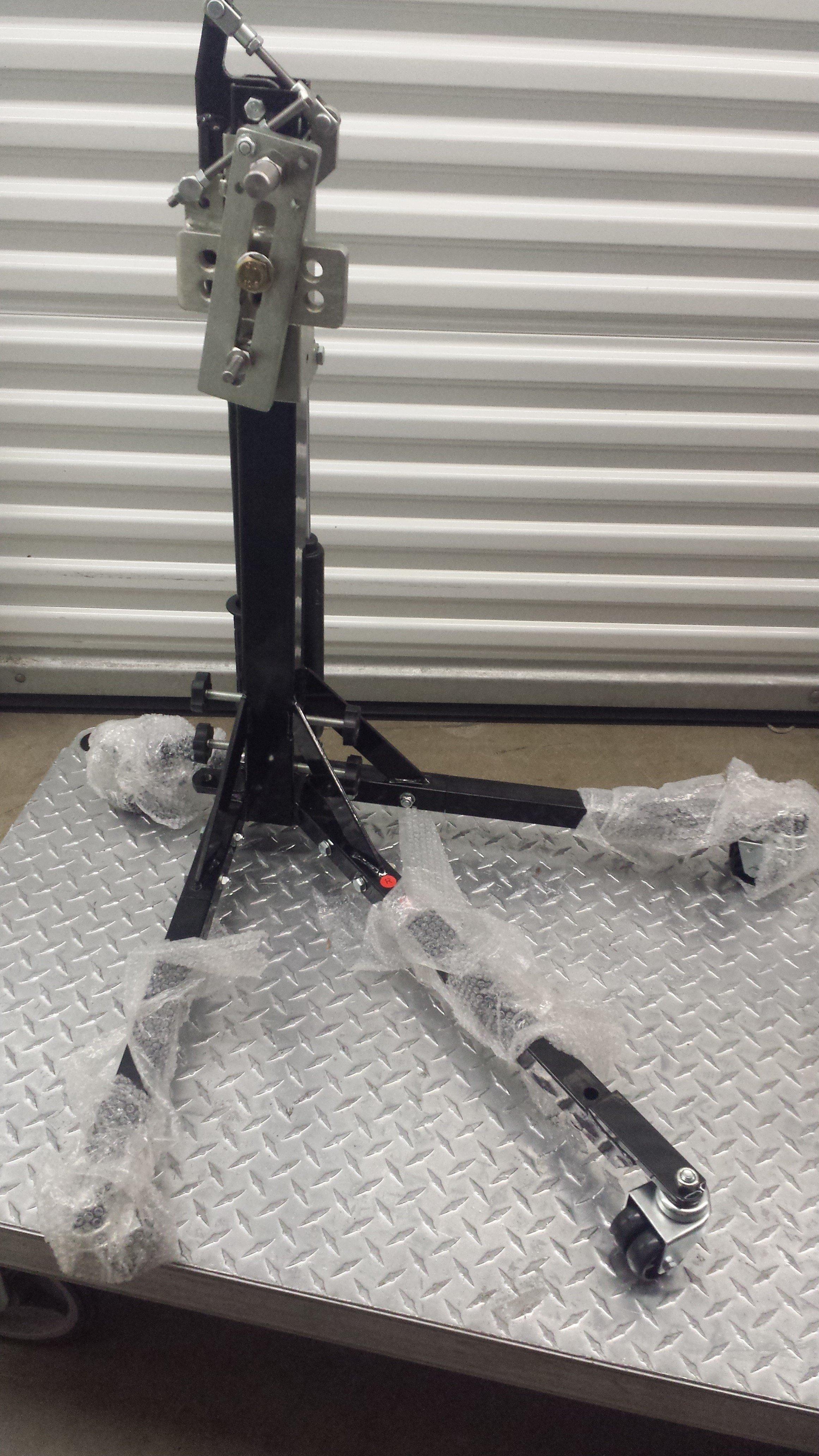 Black Custom Paddock Style Side Lift Stands Kawasaki Ninja Sport Bike Models