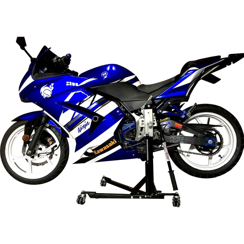 Black Custom Paddock Style Side Lift Stands Kawasaki Ninja Sport Bike Models 00375
