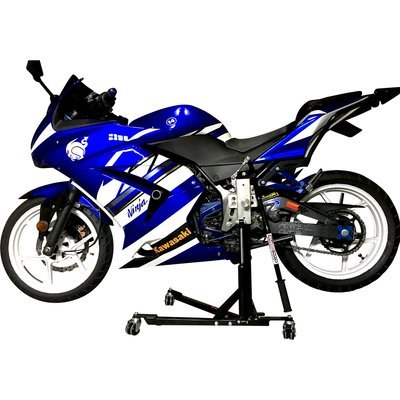 Black Custom Paddock Style Side Lift Stands Kawasaki Ninja Sport Bike Models