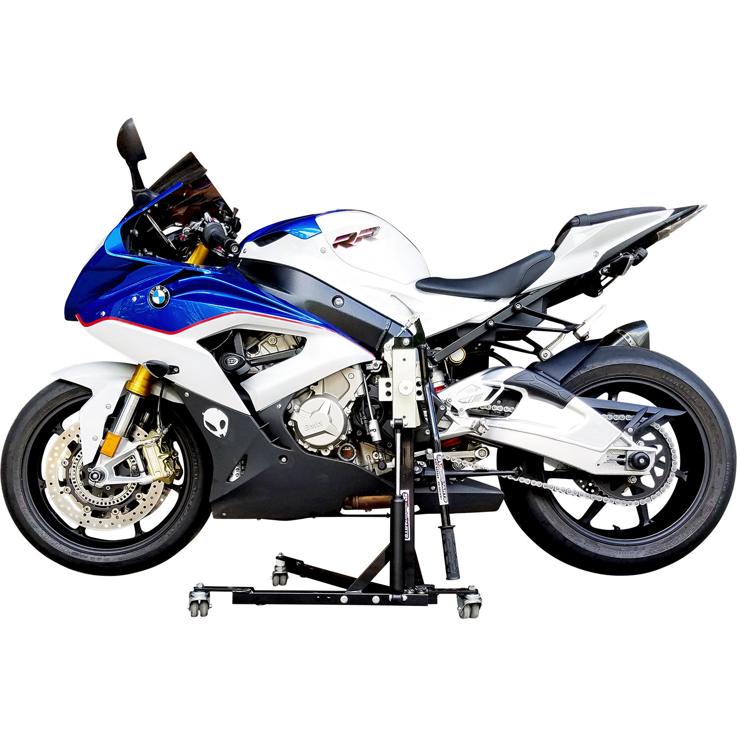 Black Custom Paddock Style Side Lift Stands BMW S1000RR - HP4 Models 2014 00459
