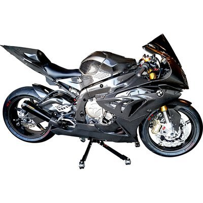 Black Custom Paddock Style Side Lift Stands 2009 to 2013 BMW S1000RR - HP4 Models