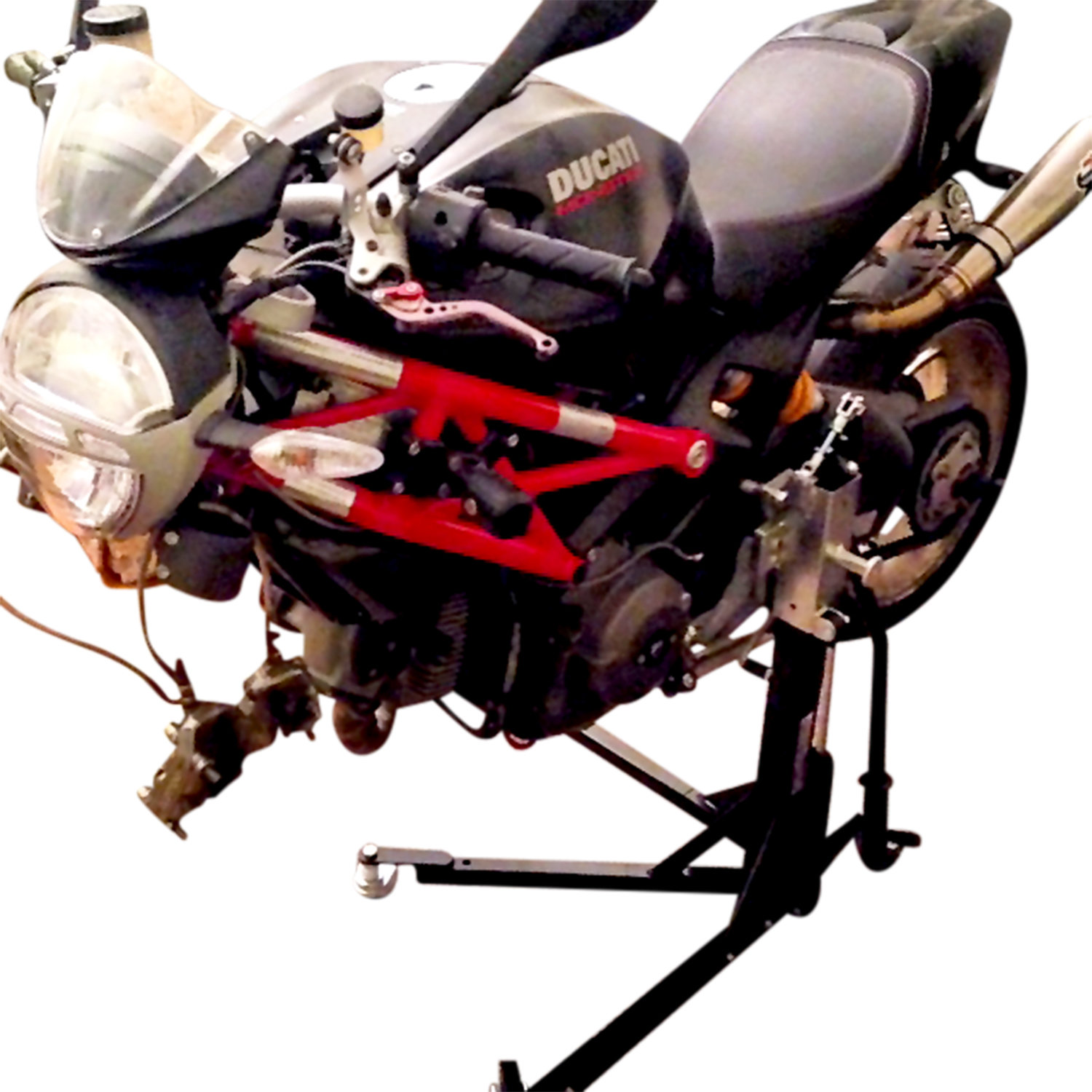 Black Custom Paddock Style Side Lift Stands 2011-2016 Ducati 1200 MultiStrada