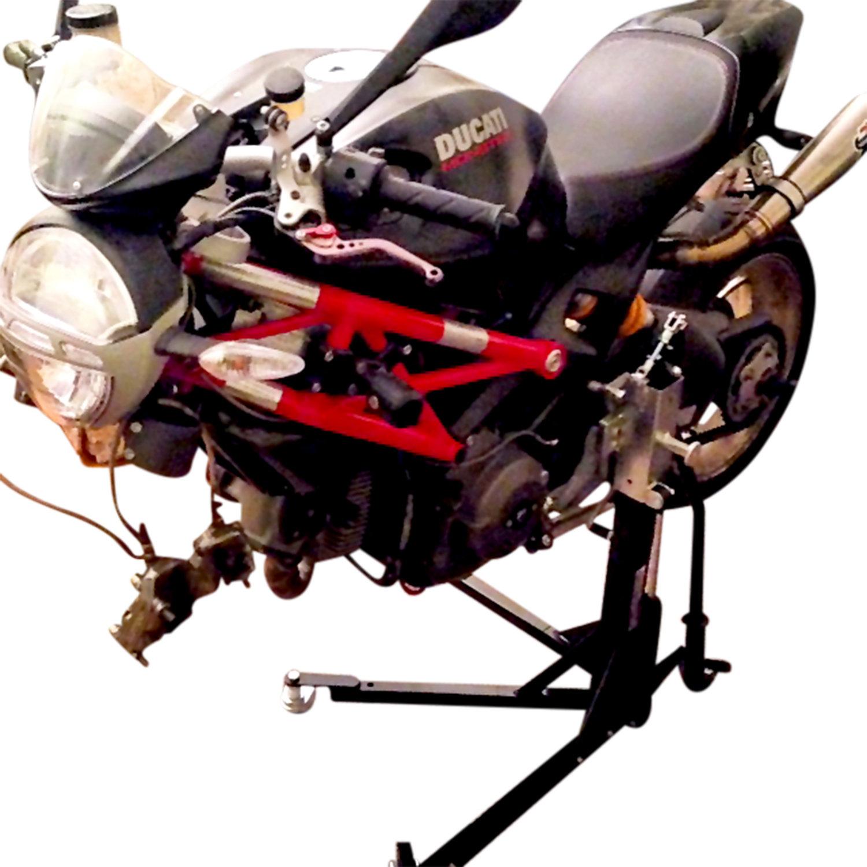 Black Custom Paddock Style Side Lift Stands Ducati 696, 796, 1100 Monster Models 00498