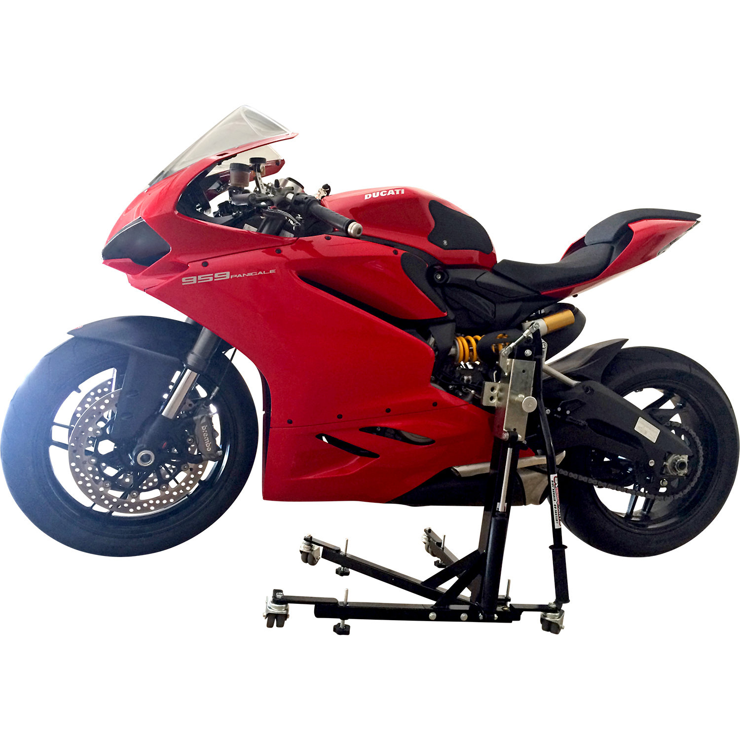 Black Custom Paddock Style Side Lift Stands Ducati 959 Panigale Models