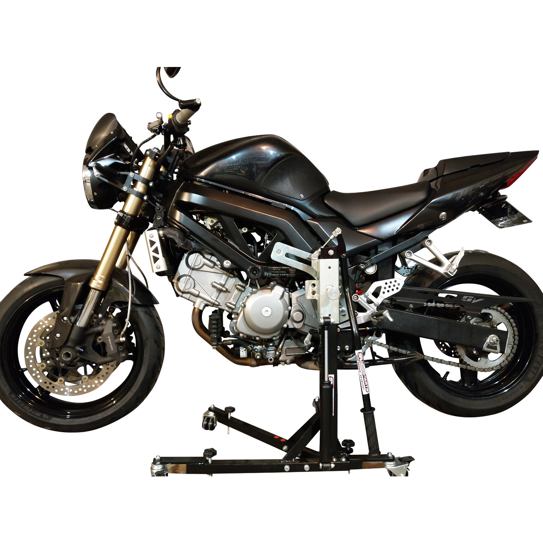 Black Custom Paddock Style Side Lift Stand Gen 2 SV650 Suzuki '03 - 2016 Models 00435