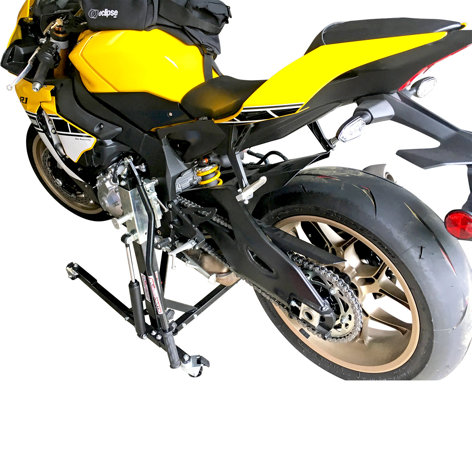 Black Custom Paddock Style Side Lift Stand Yamaha R1 - R1M Models 2015 -2019