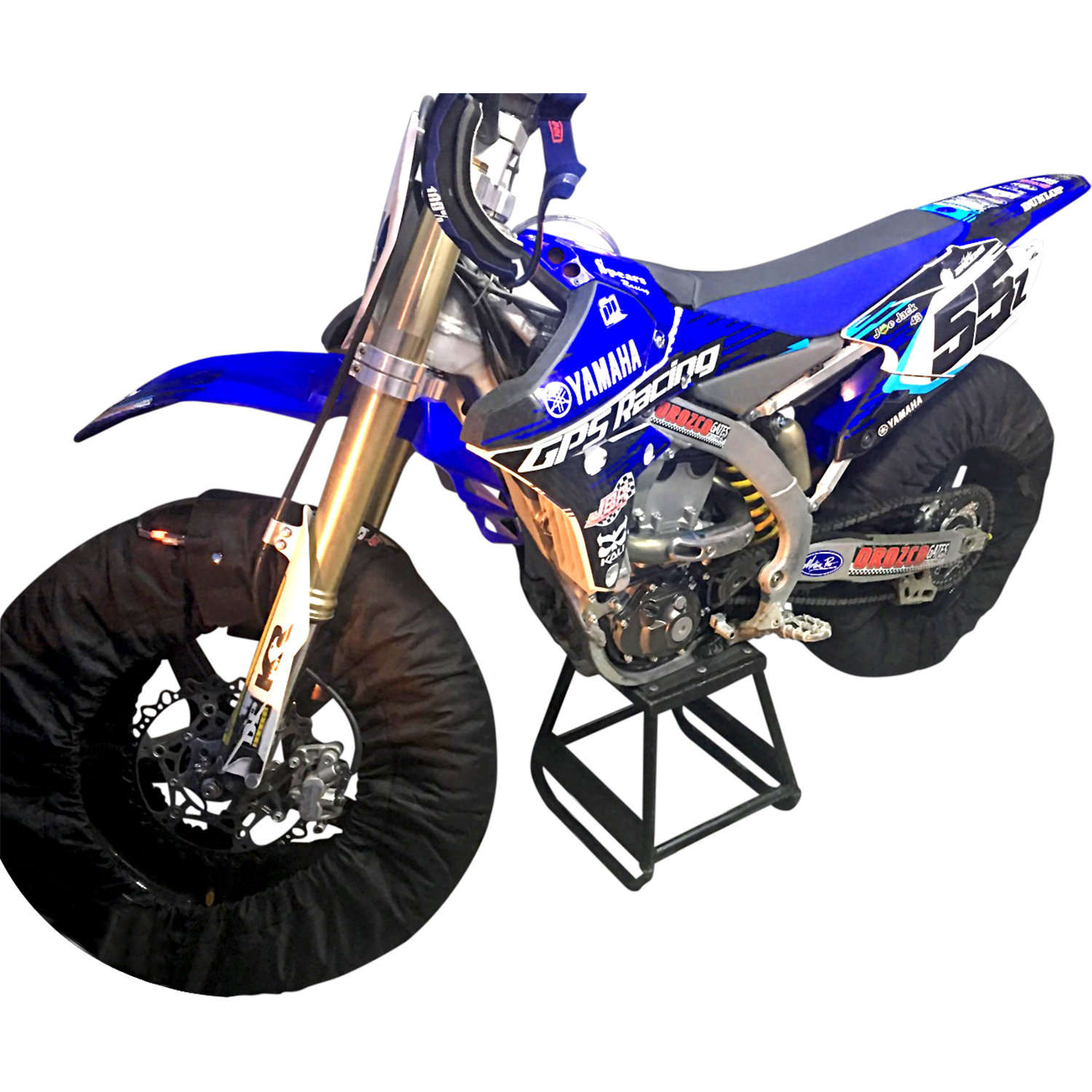 19 Inch Flat Track, 2019 Series 3 Temp Tire Warmers - 19 Inch Front and Rear Wheels 00507