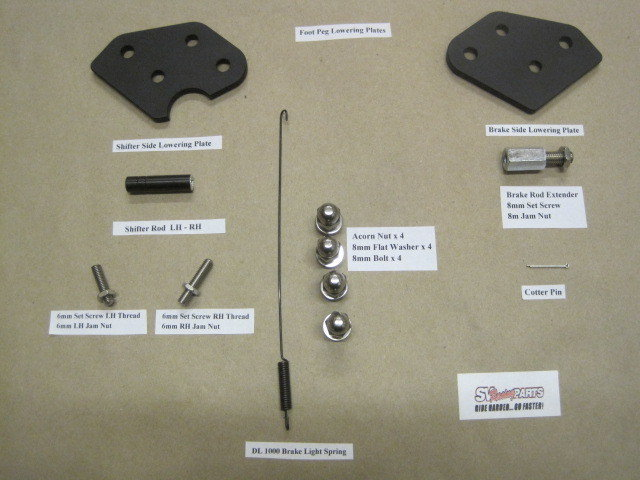 Vstrom Front Foot Peg Lowering Plates for Both DL650 and DL1000 All Models