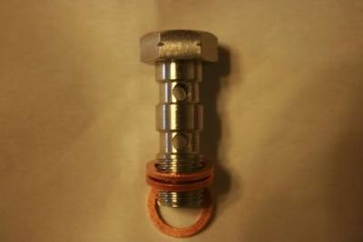 Fine Thread Titanium Double Banjo Bolt