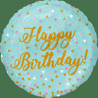 Foil Balloon Confetti Birthday with Helium